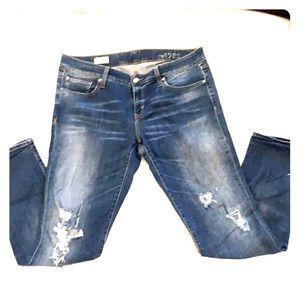 Gap always skinny distressed jeans